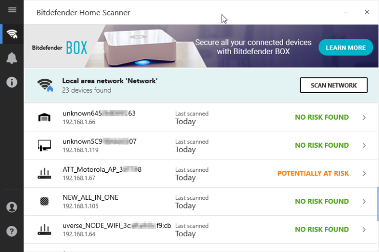 Bitdefender Smart Home Scanner
